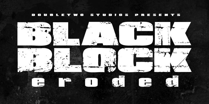 Xxii Black Block Font Webfont Desktop Myfonts