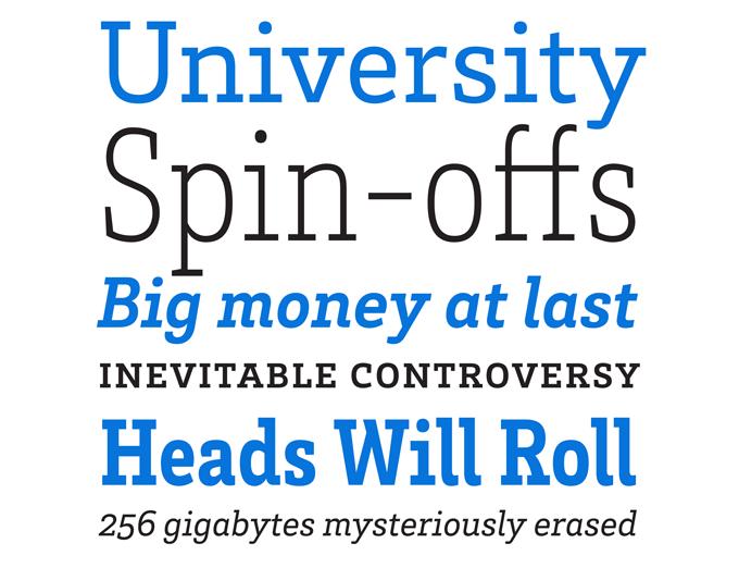 Brix Slab font sample